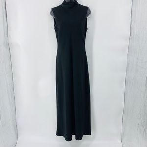 Ralph Lauren black long dress with high neck line